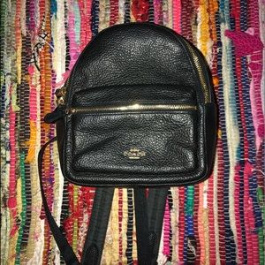 NWOT Black Coach Backpack